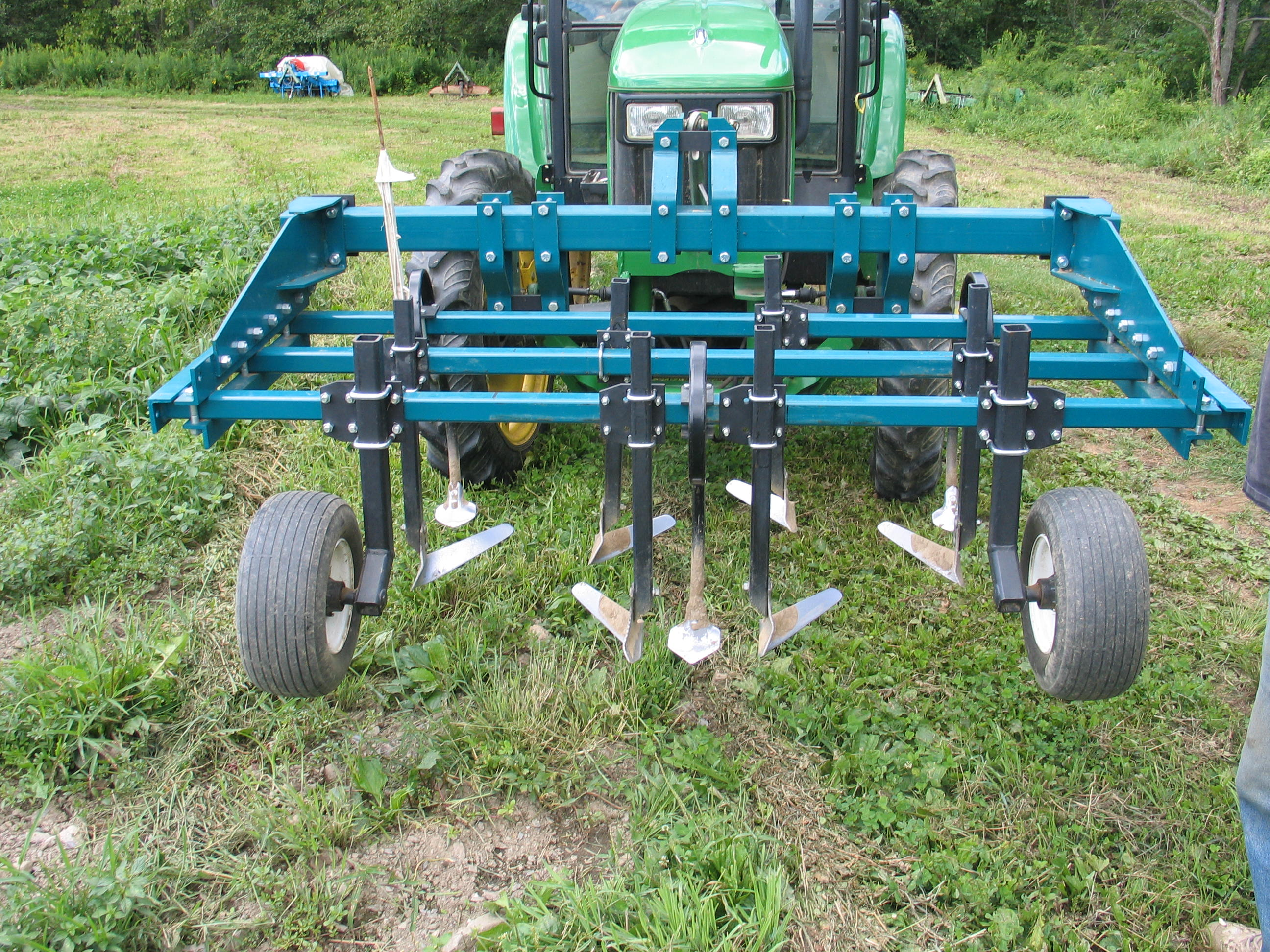 Front-mounted cultivator, Markristo Farm