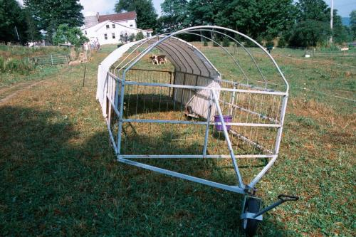 mobile shade for grazing cows