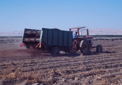 This vegetable producer in Washington State built his own compost spreader from existing equipment.
