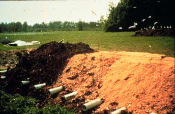 Static compost piles with passive aeration tubes