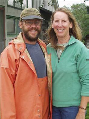 Farmers Dave and Christine Colson