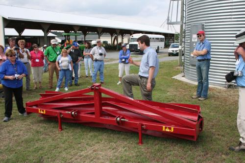 Chris Reberg-Horton explains how roller crimpers are used to terminate cover crops. Roller crimpers terminate the crop by crimping the stems, thus interrupting the flow of nutrients and water through the plant.