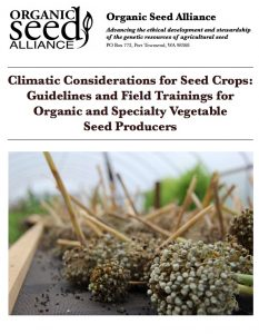 Economic Risk Management for Organic Seed Growers - eXtension